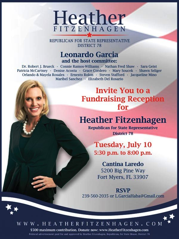 heather fitzenhagen fundraiser july 10th at cantina loredo
