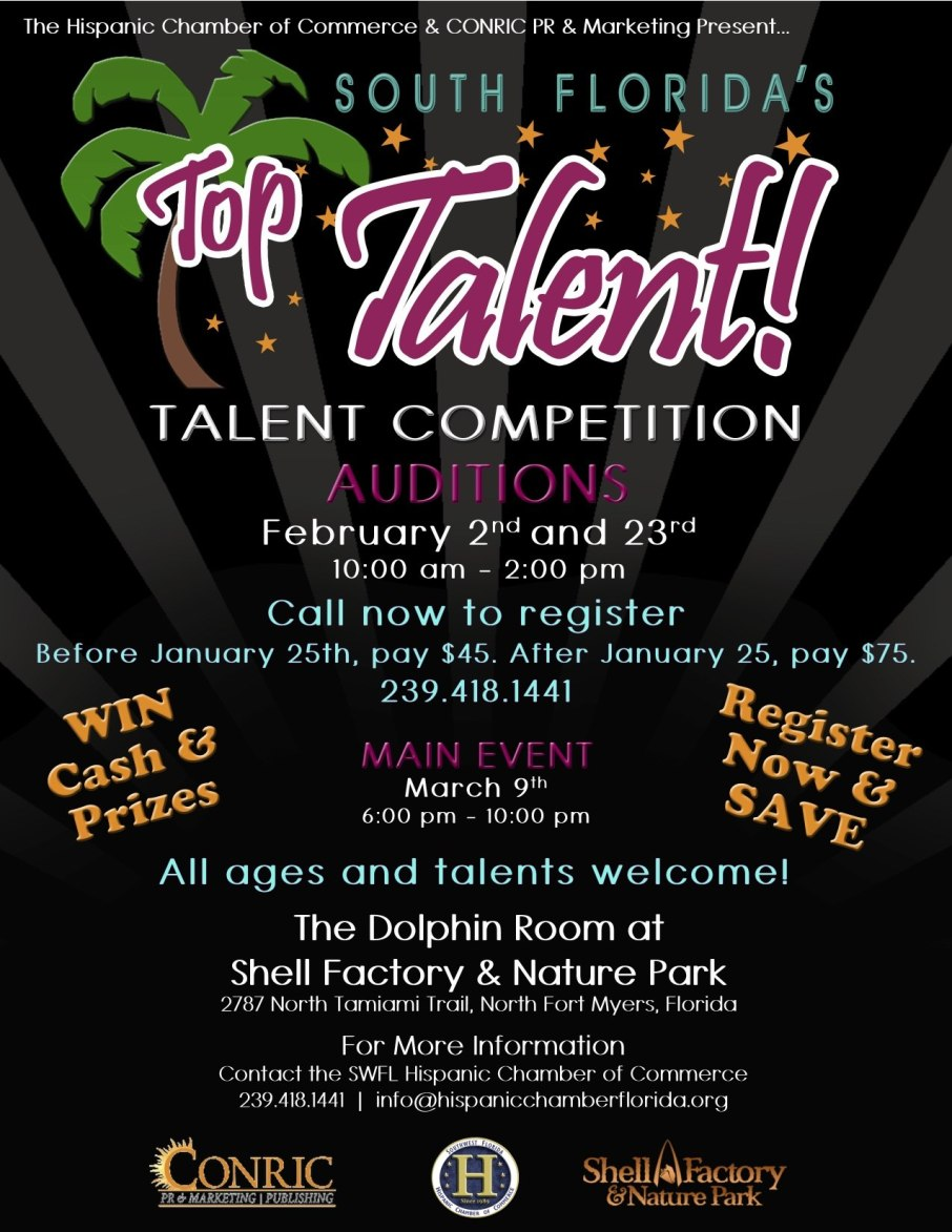 South Florida's Top Talent Will be Held on February 23, 2013