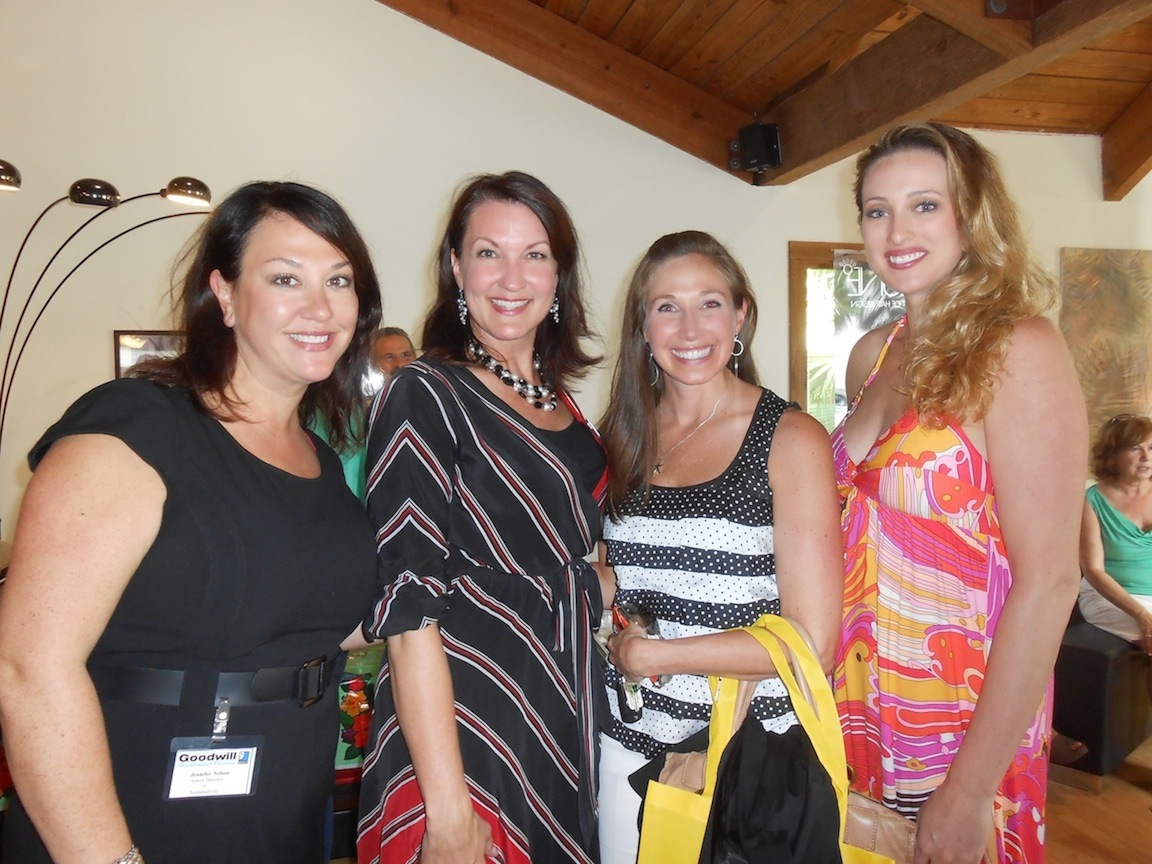 Jennifer Nelson of Goodwill, Kendra Sutton of WINK TV, Becky Dehlinger of White House _ Black Market and Allie Ross