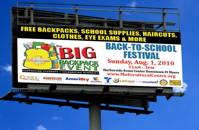 Our Advertising Portfolio Big Pack Pack Event Billboard