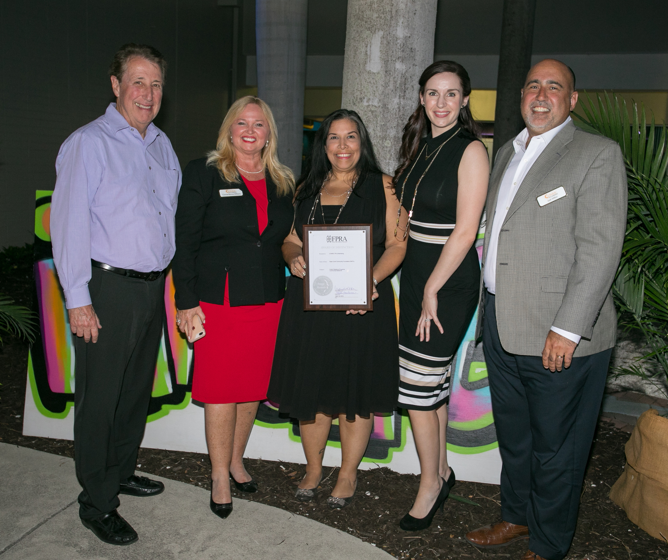 CONRIC PR & Marketing wins Award of Distinction from SWFL chapter of FPRA