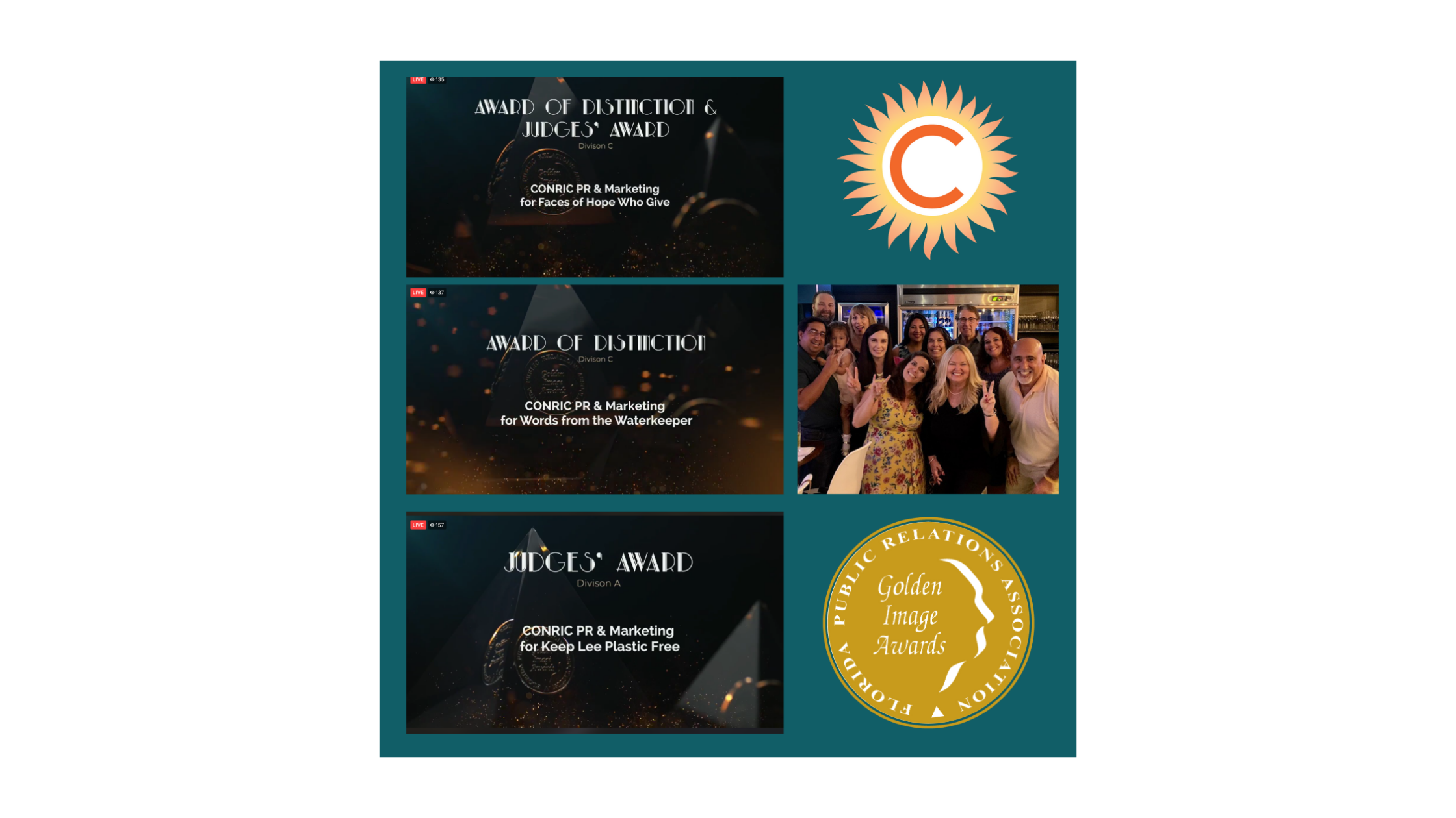 CONRIC scores four Florida public relations awards for excellence