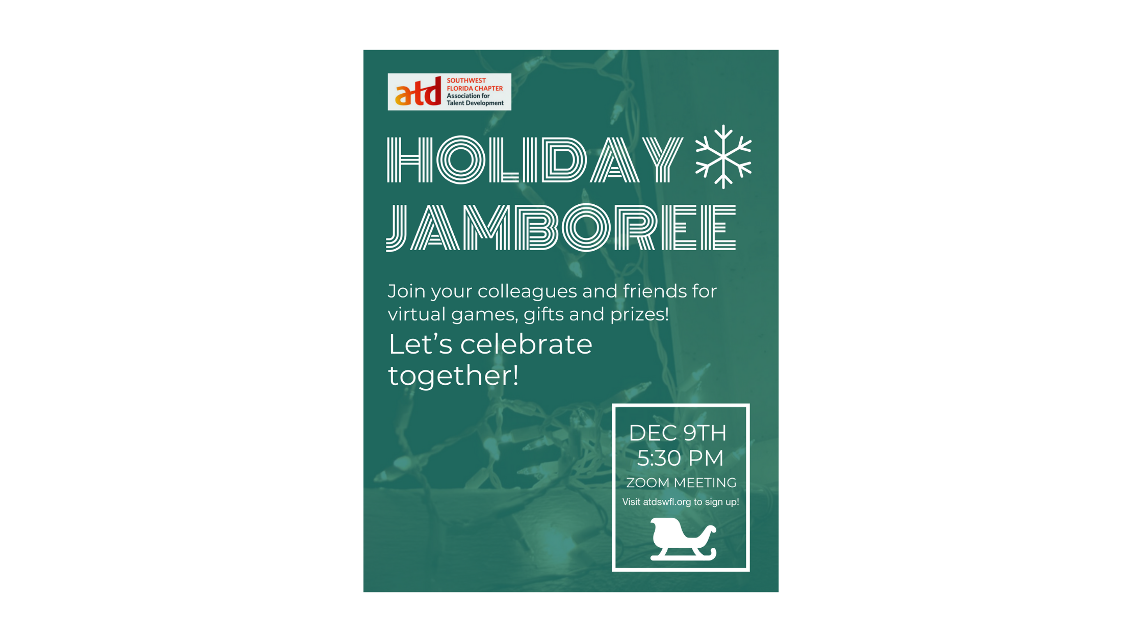 Association for Talent Development hosting a Holiday Jamboree in conjunction with ATD Employee Learning Week